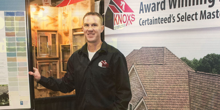 Roofer at Pittsburgh and Washington County Home Show